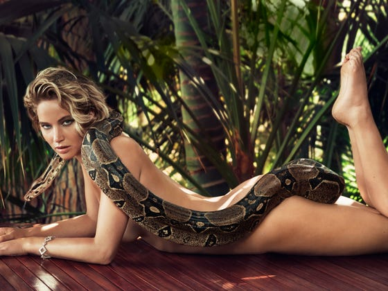 Jennifer Lawrence Posing Nude With A Snake To Get Your Friday Started Off Right