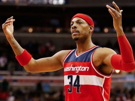 """Paul Pierce Talked About John Wall and Bradley Beal Having To Decide If They """"Want To Be Good Or Great"""" And How He Should Punch Otto Porter In The Face"""