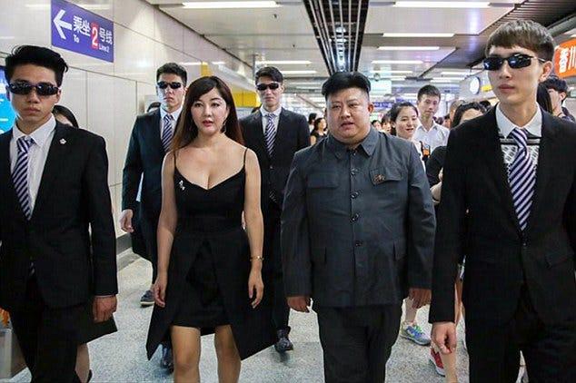 Chinese Actress Meets Kim Jong-Un Impersonator