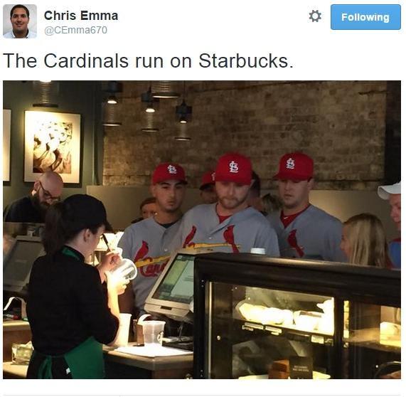 cardinals starbucks