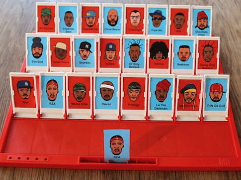 """Guess Wu - The Wu Tang Themed """"Guess Who?"""" - Might Be The Best Board Game Of All Time"""