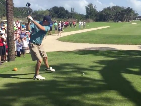Jordan Spieth Busted Out The Happy Gilmore Swing At A Pro-Am In Florida