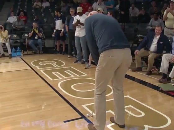 Stewart Cink Nails A 94-Foot Putt And Wins A Georgia Tech Student $25,000