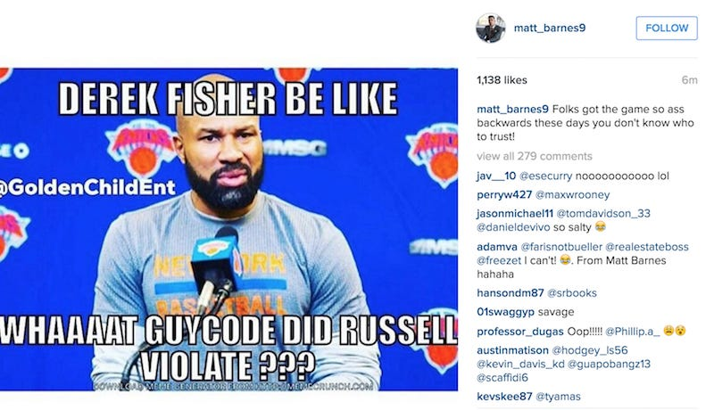 Matt Barnes Used The D'Angelo Russell/Swaggy P Drama To ...