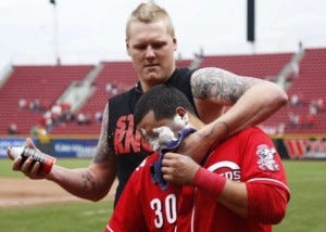 Looks like Jonathan Papelbon who is, coincidentally, also an asshole