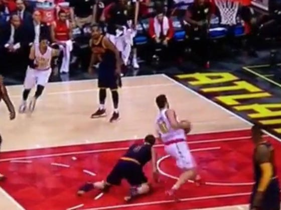 Kevin Love Gets Dropped By Kris Humphries, Murdered By Al Horford