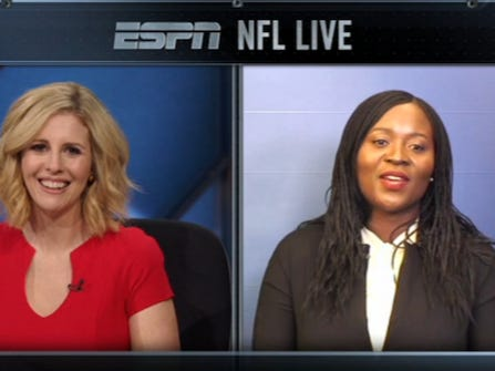 Annie Apple Continued Her Rise Toward Becoming America's Favorite Mom With An Appearance On NFL Live