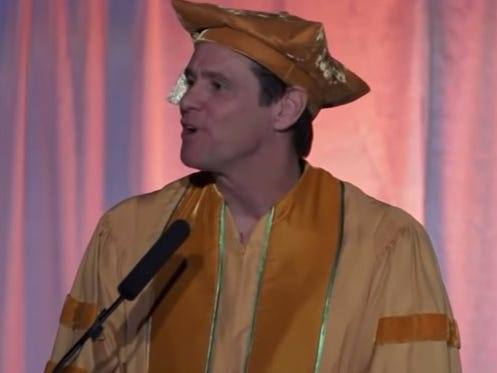 Jim Carrey's Surprisingly Inspirational Commencement Speech Taking You Into The Weekend