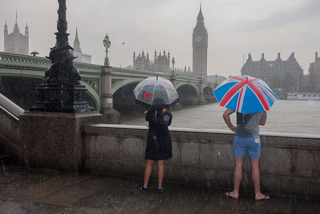 Heavy Rainfall In Central London