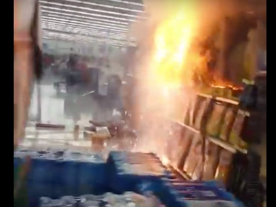 Police Would Like To Have A Word With Whoever Lit This Fireworks Aisle On Fire At Wal Mart