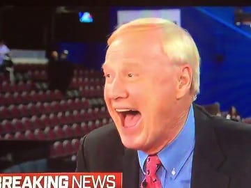 Chris Matthews Appeared To Lose His Marbles While Interviewing SNL's Michael Che And Colin Jost After Last Night's RNC