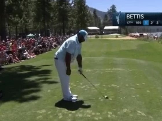 Jerome Bettis Can't Be Serious With This Swing