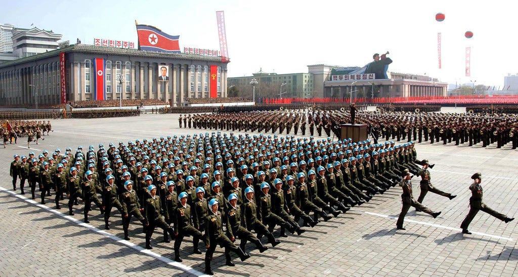 north-korea-marching