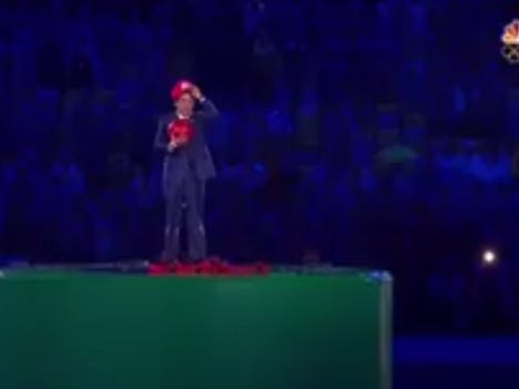 The Prime Minister Of Japan Popped Out Of A Warp Pipe While Dressed As Super Mario During The Closing Ceremonies In Rio