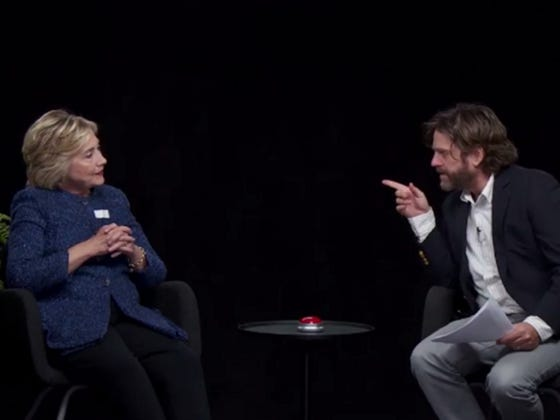 "Zach Galifianakis Doesn't Want Trump on ""Between Two Ferns"" Because He Thinks Trump Is Mentally Challenged"