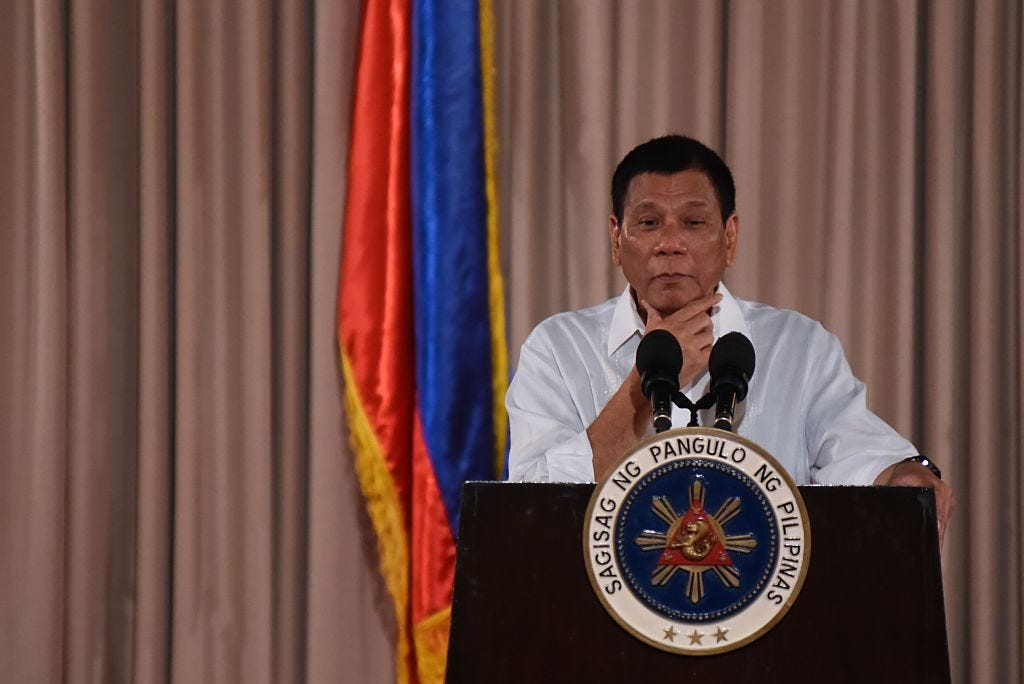 Presidential awarding ceremony in Manila