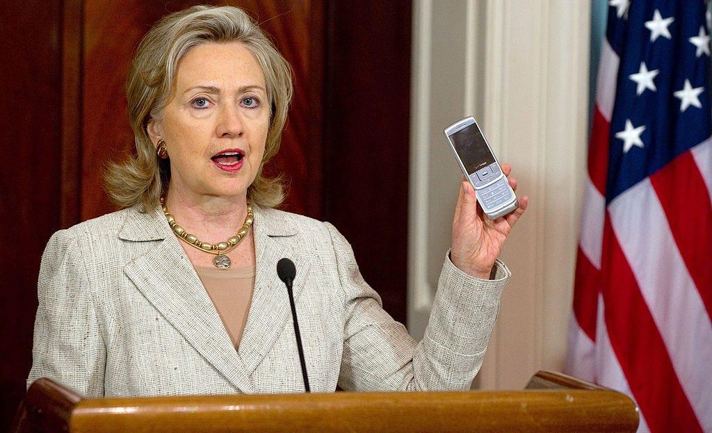 US Secretary of State Hillary Clinton ho