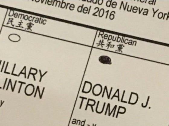 Eric Trump Votes For His Dad, Tweets Illegal Photo Of Ballot, Deletes Tweet