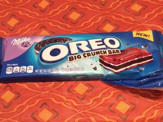 15 Second Food Review: Oreo Big Crunch Bar