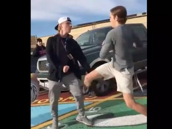 A High School Fight Ended With The Nastiest Pro Wrestling-Style Suplex KO You'll Ever See