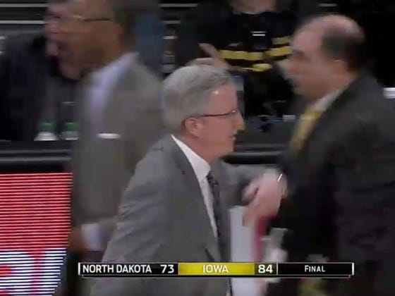 Fran McCaffery Pulls Iowa Off The Floor After Win And Refuses To Let His Team Shake Hands With North Dakota