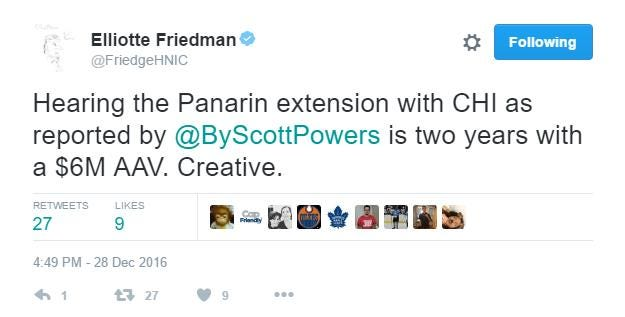 Panarin friedman