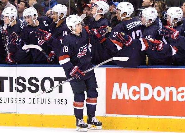 HOCKEY: DEC 26 IIHF World Junior Championship - USA v Latvia