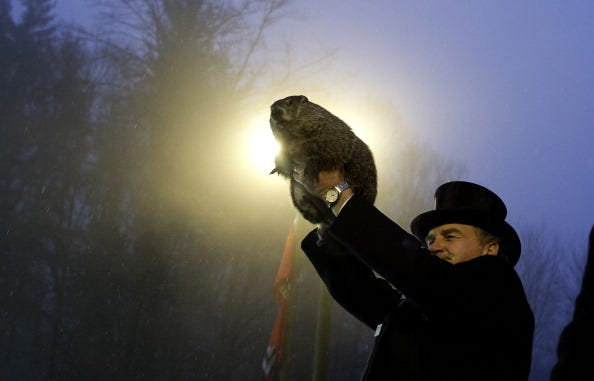 Punxsutawney Phil Makes Annual Forecast On Groundhog Day