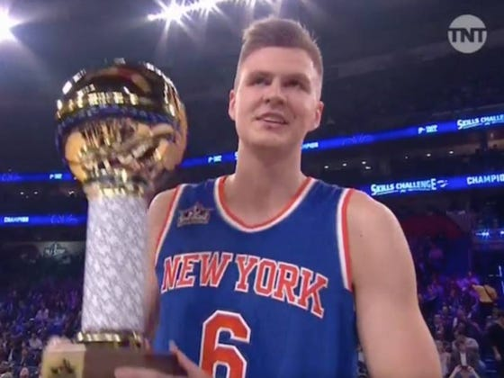 Kristaps Porzingis Is Your 2017 NBA Skills Contest Winner