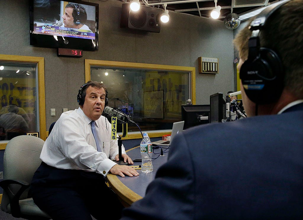 NJ Governor Chris Christie Speaks On Radio Program