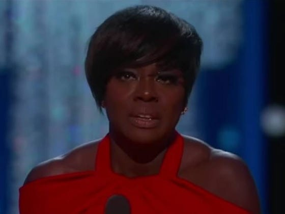 And the Oscar For Outstanding Performance in a Smug Acceptance Speech Goes to ... Viola Davis