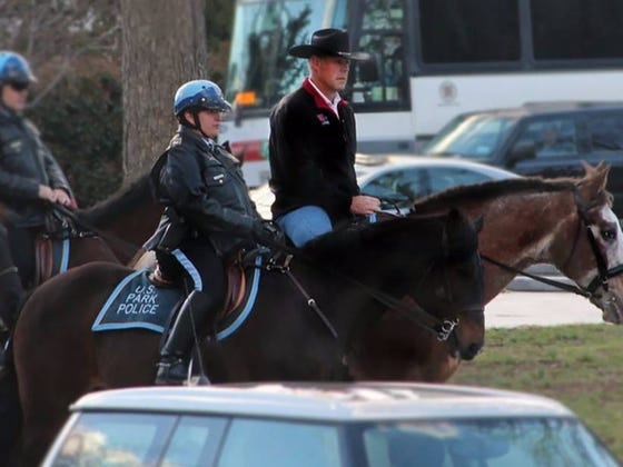 New Interior Secretary Ryan Zinke Rode A Horse To His First Day Of Work