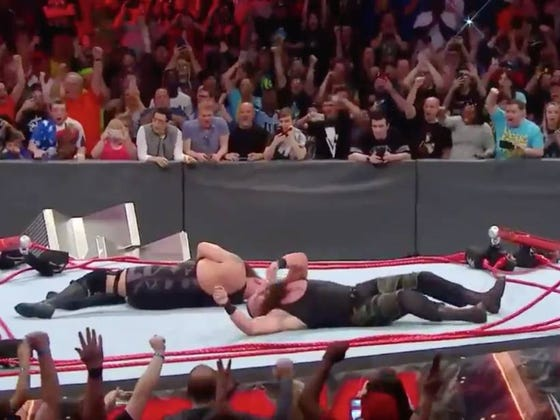 BAH GAWD! Braun Strowman And The Big Show Just Broke The God Damn Ring!
