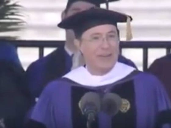 Wake Up With Stephen Colbert's Commencement Speech At Northwestern