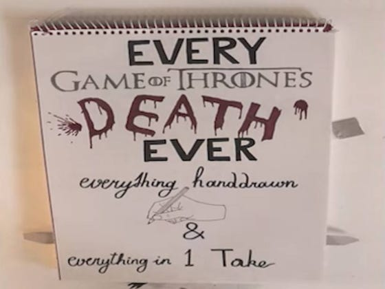 Wake Up With Every Major Game Of Thrones Death Drawn By Hand