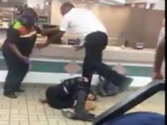 Four Burger King Employees Beating Down A Crazy Customer Is The Best Teamwork You Will See Today