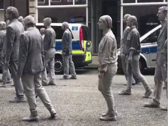 Protesting Zombies In Hamburg Look Like A Bunch Of Dumbs
