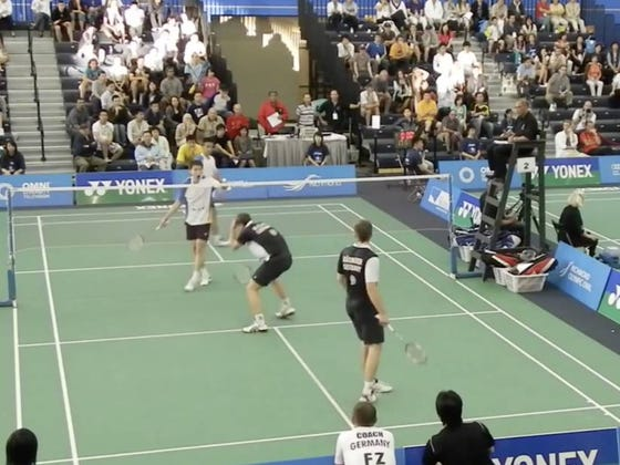 I'm Not Even Going To Ask The Question. Badminton Clearly Needs Enforcers