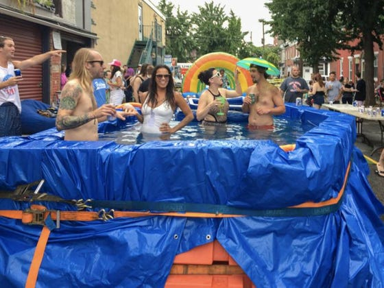 Dumpster Pool Season In Philly Has Returned