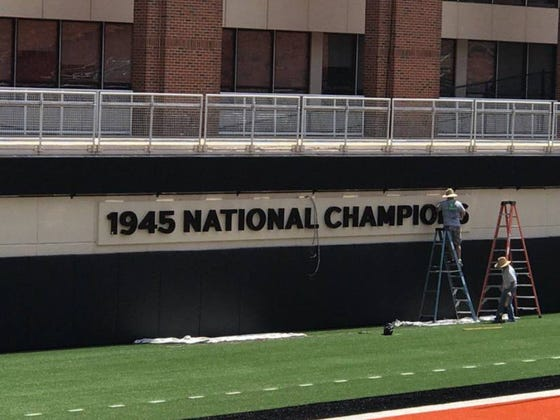 Oklahoma State Is Really Proud Of The 1945 National Championship They Didn't Win