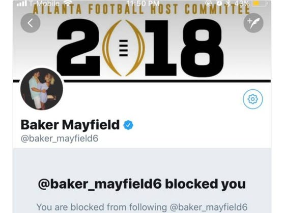 Baker Mayfield Rejected The Hell Out of a Thirsty Mia Khalifa On Twitter And Then Blocked Her. Continues To Be a Boss.