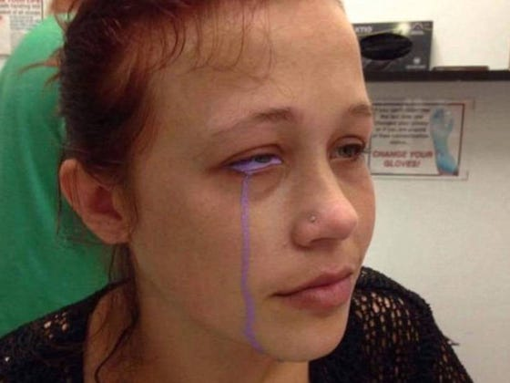 Don't Get A Tattoo On Your Eyeball Cause You Might Go Blind And Cry Purple Tears
