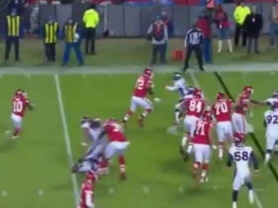 Tyreek Hill With One Of The Worst INT's You'll Ever See Thanks To Andy Reid