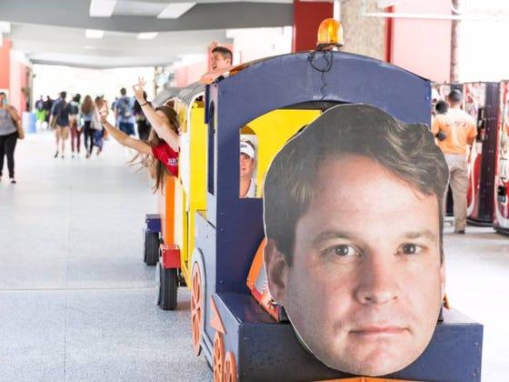 Florida Atlantic's Campus Now Features A Lane Kiffin Train #THEfaU
