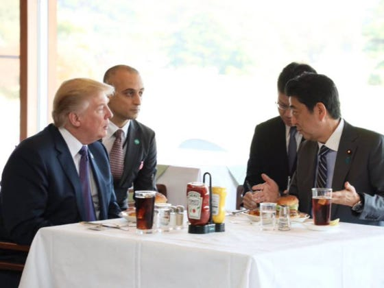 Trump Optioned Local Cuisine In Japan And Ate Only Well-Done American Burgers Instead