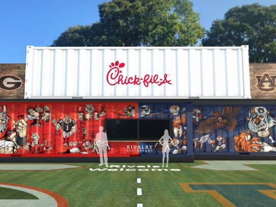 Chick-fil-A Wins Again: Will Open A Pop-Up Restaurant On Alabama-Georgia Border And Will Serve Free Food During Georgia-Auburn Game This Weekend