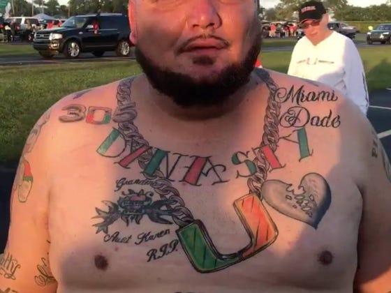 Florida Man Gets Turnover Chain Tattoo, Now Has 10 Miami Hurricanes Based Tattoos
