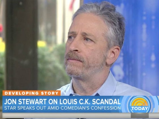 Jon Stewart Reacts To The Louis CK News On The 'TODAY' Show