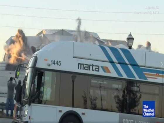 This Bus Pulling Up In Front Of A Live Stream Camera Right Before The Georgia Dome Imploded Was An All-Time Fuck Up...Or Was It?