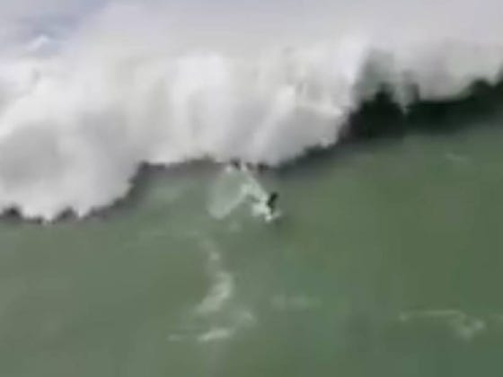 Rescuer Ends Up Getting Rescued After Largest Wave Ever Swallows Up His Jet Ski